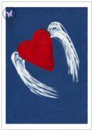 Art Greeting Card - Winged Heart